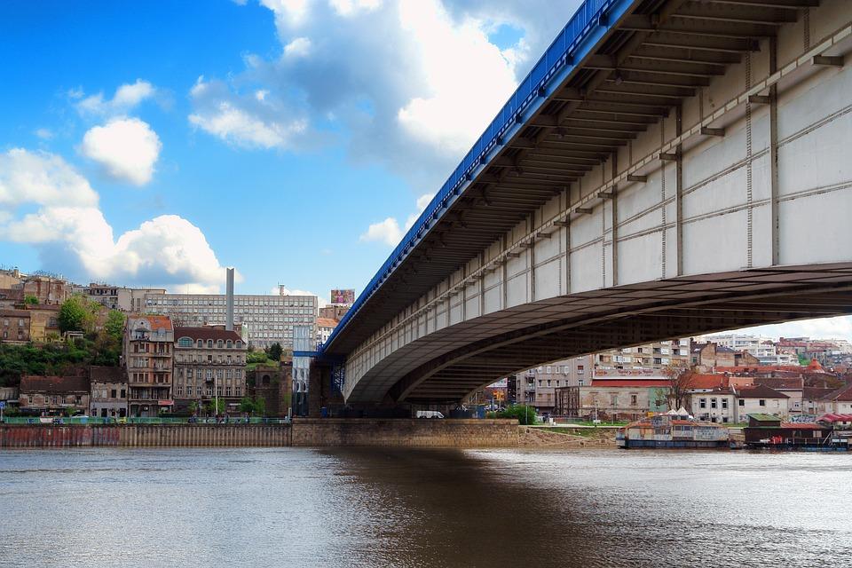 Bridge over Danube, Belgrade, Serbia